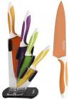 Набір Fissman Magellan 4 кухонних ножів на акриловій підставці