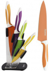 Набор Fissman Magellan 4 кухонных ножей на акриловой подставке