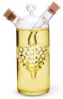 Емкость Fissman для масла 320мл и уксуса 50мл (2 в 1), стеклянная
