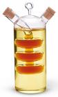 Ємність Fissman для олії 350мл та оцту 50мл (2 в 1), скляна