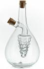 Емкость Fissman для масла 500мл и уксуса 50мл (2 в 1), стеклянная