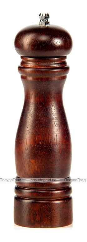 Мельница для специй (перцемолка) Fissman Spice 20см, темный бамбук