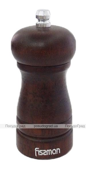 Мельница для специй (перцемолка) Fissman Spice 10х5см, корпус темное дерево