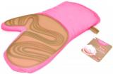 Кухонная рукавица Fissman Pink, хлопок с силиконовой вставкой