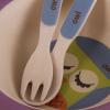 """Детский набор Fissman """"Совенок"""" миска, ложка и вилка из бамбукового волокна"""