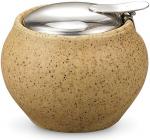 Сахарница керамическая Fissman ProfiTea 250мл с откидной крышкой, песочная