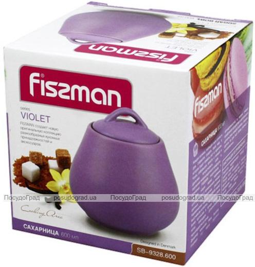 Сахарница керамическая Fissman Sunshine 600мл, матовый фиолет