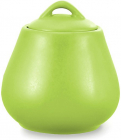 Сахарница керамическая Fissman Sunshine 600мл, матовая зеленая