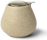 Цукорниця керамічна Fissman ProfiTea 600мл з відкидною кришкою, бежевий пісок