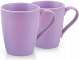 Набор 2 керамические кружки Fissman Sunshine 300мл, матовый фиолет