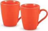 Набор 2 керамические кружки Fissman Sunshine 300мл, оранжевые