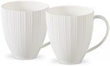 Набор 2 кружки Fissman Elegance White 400мл, фарфор