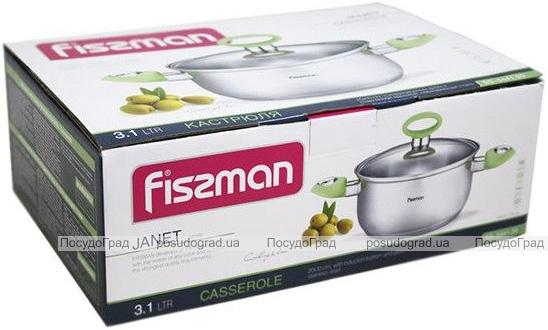 Кастрюля Fissman Janet 3.1л из нержавеющей стали с индукционным дном