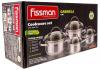 Набор кухонной посуды Fissman Gabriela, 3 кастрюли и ковш с мерной шкалой
