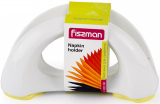Серветниця Fissman 16х8см керамічна з жовтою силіконовою підставою