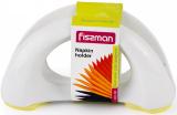 Салфетница Fissman 16х8см керамическая с желтым силиконовым основанием