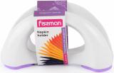 Серветниця Fissman 16х8см керамічна з бузковою силіконовою підставою