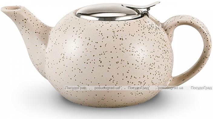 Чайник заварювальний Fissman ProfiTea 800мл (бежевий пісок) з ситечком