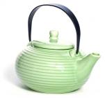 Чайник заварочный Fissman Ice Green 750мл керамический со стальным ситечком