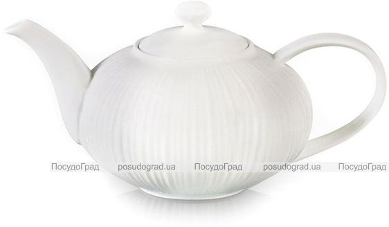 Чайник заварочный Fissman Elegance White 1л фарфоровый