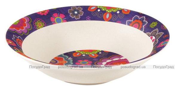 Тарелка суповая Fissman Purpur Ø19см из бамбукового волокна
