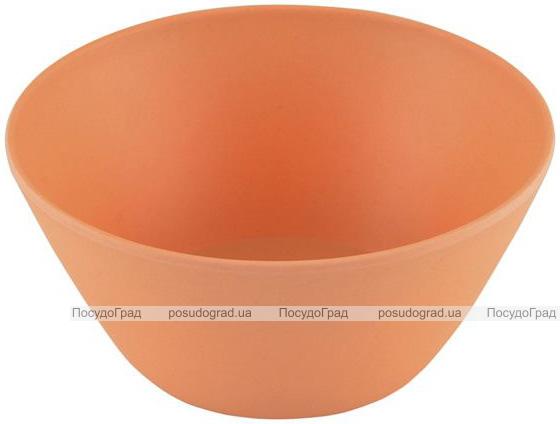 Пиала Fissman 650мл оранжевая из бамбукового волокна