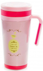Термокружка с ручкой Fissman Coffee Time 500мл розовая