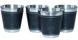 Набір 4 дорожні сталеві стопки (чарки) Dynasty 50мл в чохлі