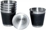 Набір 6 дорожніх сталевих стопок (чарок) Dynasty 50мл в чохлі