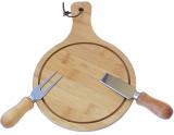 Сирна дошка FunTree 26х18см, з сирними ножами