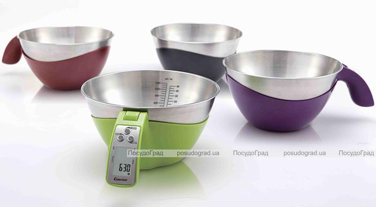 Весы кухонные Constant электронные с миской до 5кг и мерной шкалой (цветной корпус)