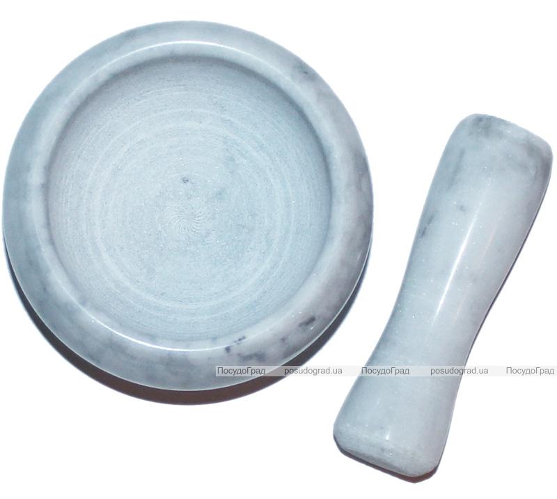 Компактная мраморная ступа Dynasty Grind Ø7см с мраморным пестиком 9см