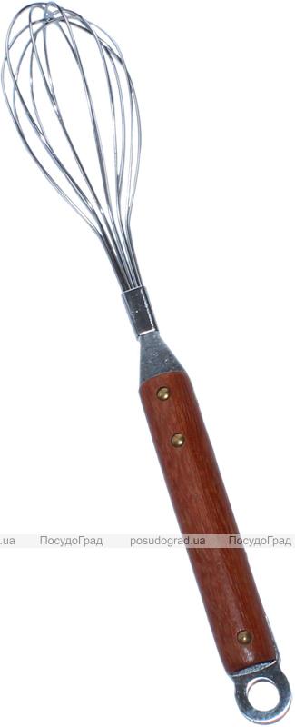 Венчик Dynasty YJMOST 31см с деревянной ручкой