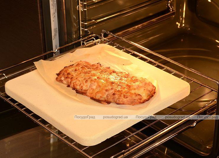 Камень-противень BIOWIN 38х31см для пиццы и хлеба с лопаткой