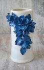 """Ваза керамическая Grand Kerama """"Индиго"""" 23см, синие цветы"""