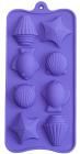 """Форма для выпечки Hauser """"Море"""" силиконовая 22х10.5см, 8 ячеек"""