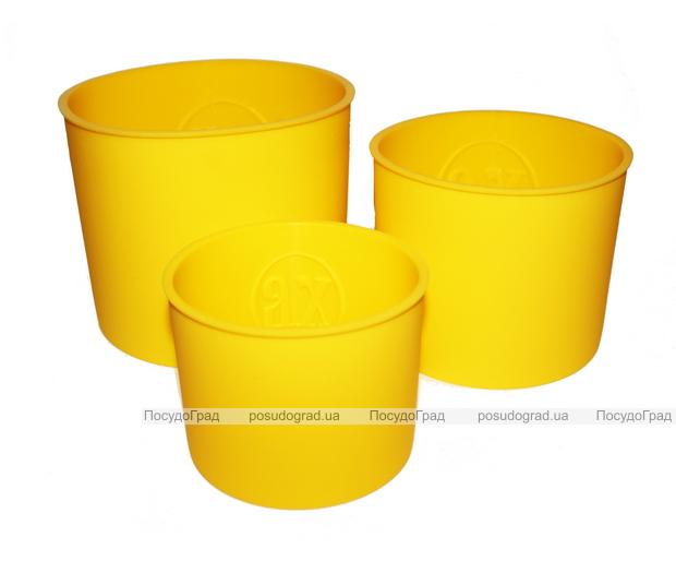 Набор силиконовых пасхальных форм Hauser 3 кулича Ø11, Ø13 и Ø15