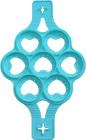 Форма-трафарет Серце для смаження оладок і яєчні Ø23.5см силіконова, 7 осередків
