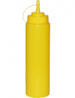 Диспенсер для соусів та сиропів 700мл жовтий з ковпачком