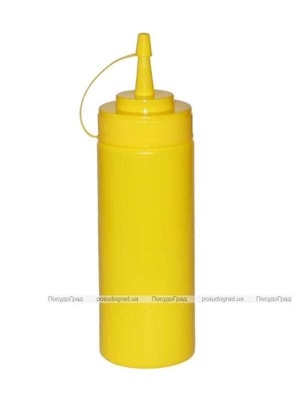 Диспенсер для соусов и сиропов 350мл желтый с колпачком