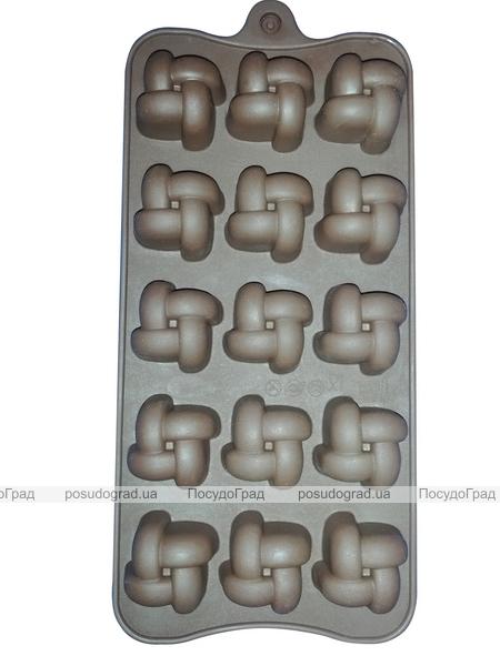 Силиконовая форма 7152 для 12 конфет или льда 20х12х2см