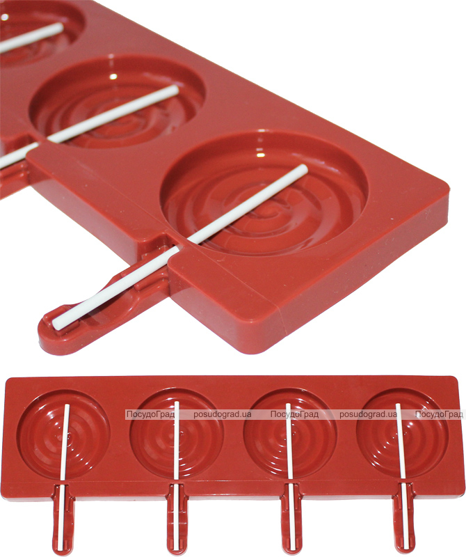 Форма Hauser Круглая для леденцов на палочке, силиконовый планшет 350х95мм
