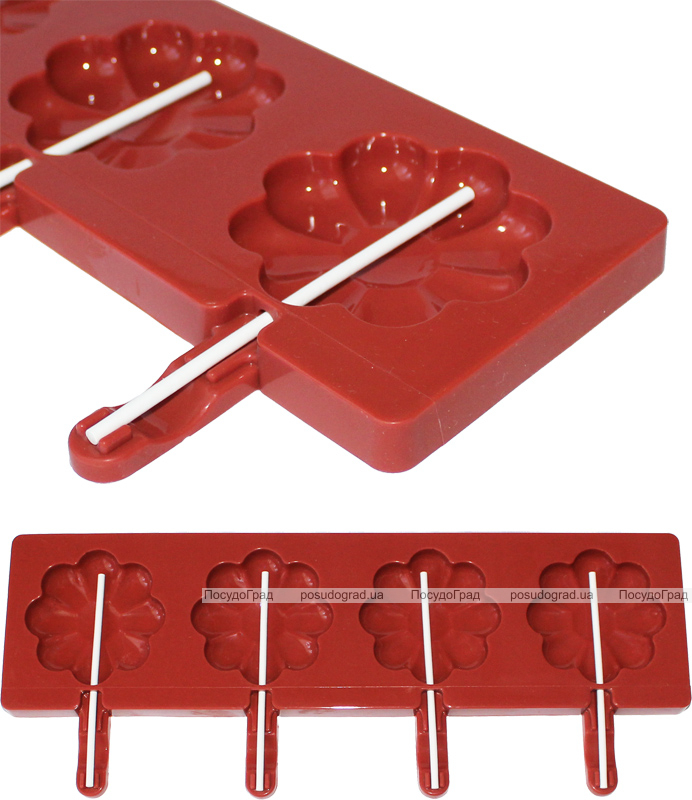 Форма Hauser Ромашка для леденцов на палочке, силиконовый планшет 350х95мм