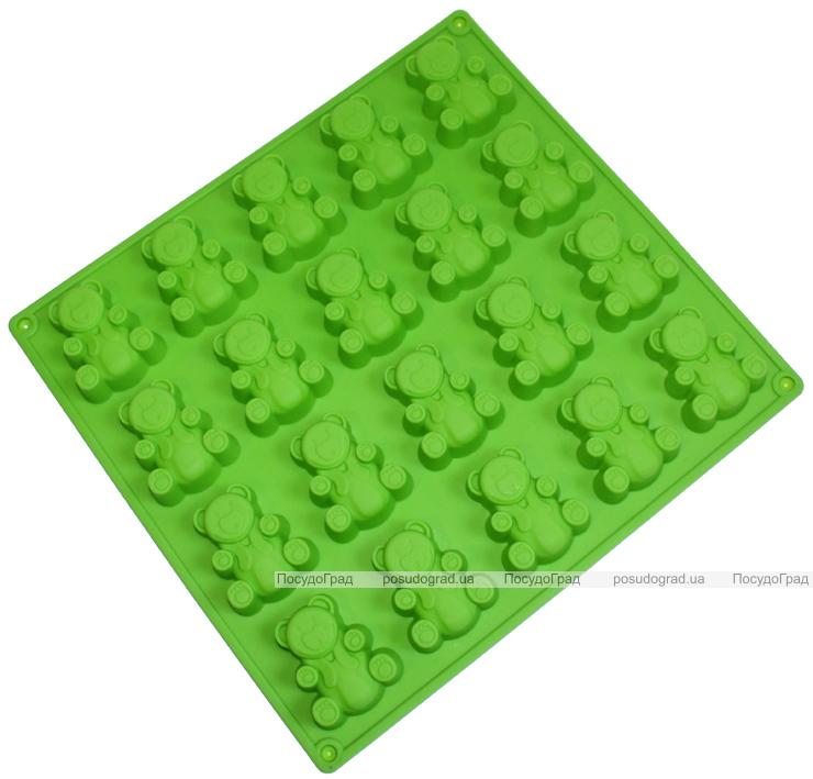 """Форма силиконовая для выпекания """"Медвежонок"""" планшет 20шт"""