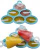 """Форма силиконовая Hauser """"Клубничка"""" для мороженого на палочке, 6 порций"""