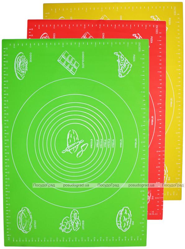 Силиконовый противень-коврик 45х65см с разметкой