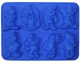 Форма силиконовая для выпечки Белоснежка и семь гномов планшет 6 фигурок