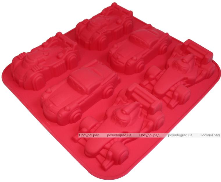 """Форма силиконовая для выпекания """"Машинки"""" планшет 6шт"""