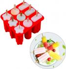 Форма для морозива та замороженого соку 9 осередків, силіконова