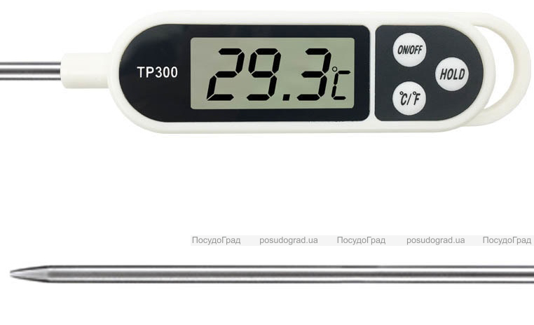 Термометр цифровой кухонный штыковой TP300 для горячих и холодных блюд